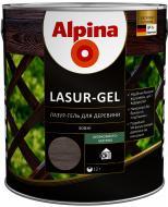Лазурь Alpina Lasur-Gel черный шелковистый мат 2,5 л