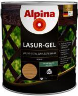 Лазурь Alpina Lasur-Gel тик шелковистый мат 0,75 л