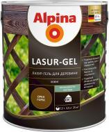 Лазурь Alpina Lasur-Gel белый шелковистый мат 10 л