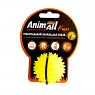 Іграшка для собак AnimAll Fun м'яч каштан жовтий 5 см