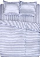 Комплект постільної білизни Смужка Акварель сімейний блакитний UP! (Underprice)