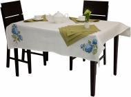 Комплект столовий Гортензія скатертина та 4 серветки 140x140 см Галерея льону