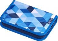 Пенал 31 предмет Cubes Blue 50021031 Herlitz блакитний