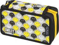 Пенал Triple Smileyworld Black & Yellow 50015436 Herlitz різнокольоровий