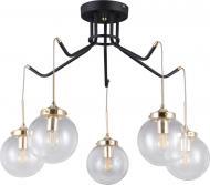 Люстра стельова Victoria Lighting Miracle/PL5 5x5 Вт E14 чорний/золото