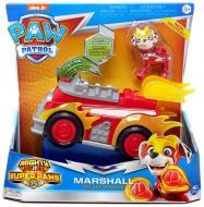 Игровой набор Spinmaster Щенячий патруль: Маршал с автомобилем де-люкс (серия Мегащенки) SM16776/7271