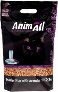 Наповнювач для котячого туалету AnimALL з ароматом лаванди 2,8 кг