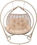 Кресло-кокон Indigo Фортуна 2-местный с подушкой бежевый