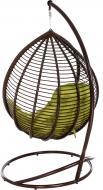 Кресло-кокон Indigo с подушкой коричневый