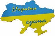 Магніт Україна на полотні MSU005