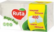 Серветки столові Ruta    24х24 см білі 400  шт.