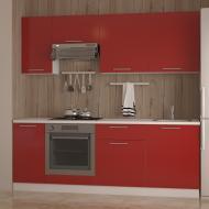 Кухня Дарина червоний глянець МДФ 2.2 м