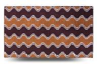 Килимок для ванної Dariana Хвиля 70х120 см коричневий