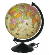 Глобус політичний під старовину (укр.мова) з підсвіткою