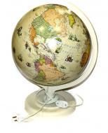 Глобус політичний стилізований під старовину з підсвічуванням лакований (укр.мова)