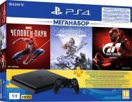 Ігрова консоль Sony PlayStation 4 Slim 1ТВ в комплекті з 3 іграми і підпискою PS Plus