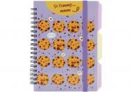 Блокнот Cookies B6 спіраль з роздільниками 100 арк. клітинка O20358-07 Optima