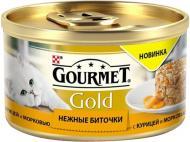 Корм Gourmet Gold ніжні биточки з куркою і морквою 85 г