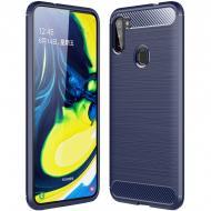 TPU чехол Epik Slim Series для Samsung Galaxy M11 Синий (896994)