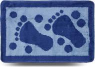 Килимок для ванної кімнати Dariana Лапки 40х60 синій