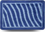 Килимок для ванної кімнати Dariana Хвиля 40х60 синій