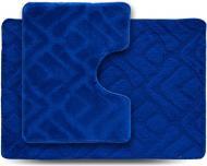 Набір килимків Dariana Econom 55x80 + 55x42 Геометрія,синій