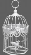 Клітка декоративна Cage Пташка 16х14,5х13.5 см білий