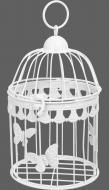 Клітка декоративна Cage Метелик 15х15х23,5 см білий