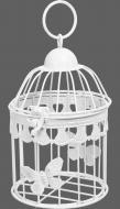 Клетка декоративная Cage Бабочка 12х12х18 см белый
