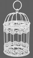 Клітка декоративна Cage Мереживо 13х13х21 см білий