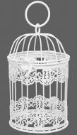 Клетка декоративная Cage Кружево 11х11х18 см белый