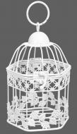 Клетка декоративная Cage Сетка 12,5х11х19 см белый