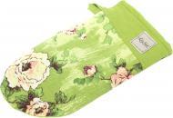 Прихватка-рукавиця Троянди 15x29 см зелений La Nuit