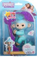 Іграшка інтерактивна Wow Wee гламурна ручна блакитна мавпочка Fingerlings W3760/3761