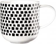 Чашка Coppa 400 мл черно-белая 19116014 ASA
