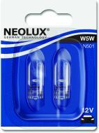 Лампа розжарювання Neolux Standart W5W W2.1x9.5d 12 В 5 Вт 2 шт 3200 K