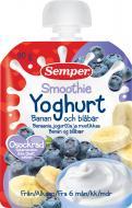 Пюре Semper Смузі з банана і чорниці з йогуртом