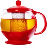 Чайник заварювальний Basic Plast Round 800 мл червоний DGP001- UP! (Underprice)