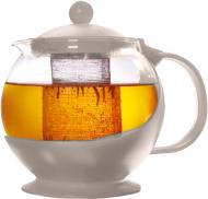 Чайник заварювальний Basic Plast Round 800 мл сірий GB-BP001 UP! (Underprice)