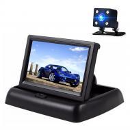 Автомобильный монитор Terra LCD Color 4.3 с камерой заднего вида Черный (mt-348)