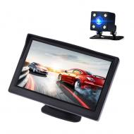 Автомобильный монитор Terra LCD Color 4.3 с камерой заднего вида Черный (mt-215)