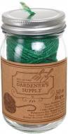Мотузка для саду в скляній банці 50 м зелений