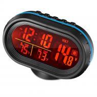 Автомобильные часы с термометром и вольтметром VST 7009V (44864)