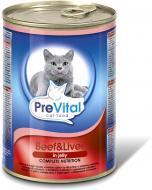 Корм PreVital яловичина-печінка в желе 415 г 172072