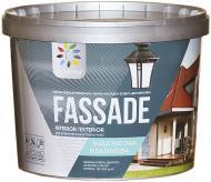 Краска фасадная акриловая водоэмульсионная COLORINA FASSADE мат белый 3,5кг