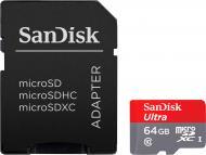 Карта пам'яті SanDisk microSDXC 64 ГБ Class 10UHS-I (SDSQUNS-064G-GN3MA)