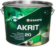 Краска Eskaro Akrit 20 белый 9,5л 11,9кг
