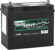 Акумулятор автомобільний Gigawatt Asia 45Ah правий GW 0185754555