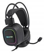 Навушники Maxxter Ghost Helmet black USB 7.1 RGB підсвічування