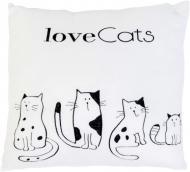 Мягкая игрушка Тигрес Подушка Love cats 33 см